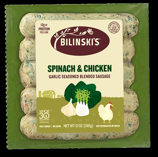 All Natural Spinach & Garlic Chicken Sausage