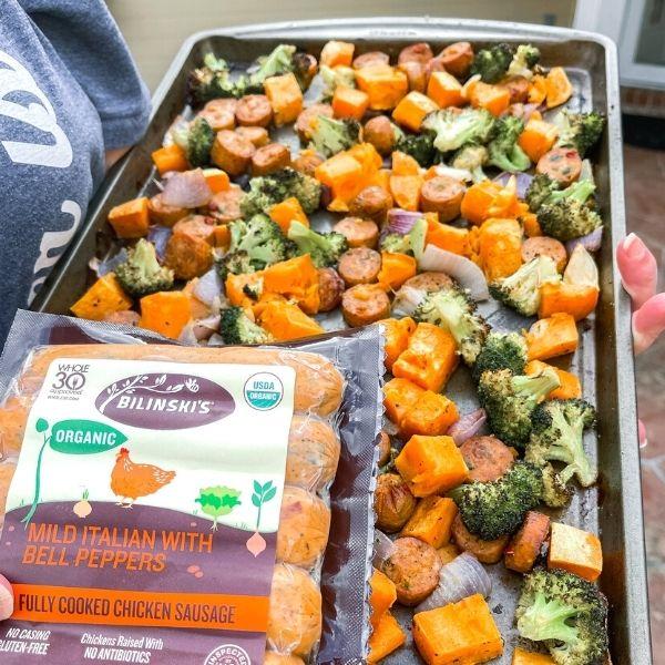Bilinski's Weight Watchers Sheet Pan Meal Prep